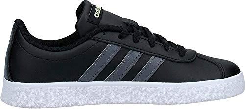 Adidas VL Court 2.0 K, Zapatillas de Deporte Unisex Adulto, Multicolor (Negbás/Gricin/Amalre 000), 38 2/3 EU