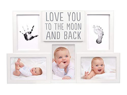 Pearhead Cadre photo mural avec kit d'encre pour le moule de la main et du pied du bébé - 1 kg