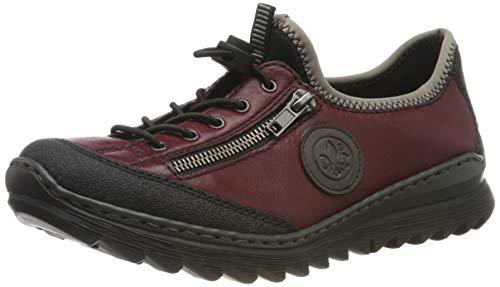 Rieker Damen M6269-00 Sneaker, Rot Wine Schwarz/Dust 00, 42 EU