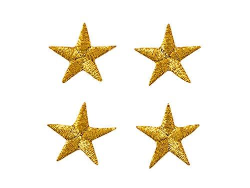 Applikationen - Fashion and Home - aufbügelbar Sterne ca. 1,7 cm gold 4 St