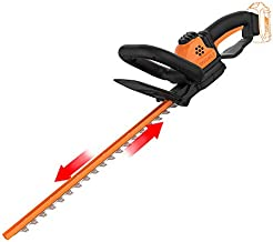 WORX WG261.9 20V Power Share 22-Inch Cordless Hedge Trimmer, Bare Tool Only,Black/Orange