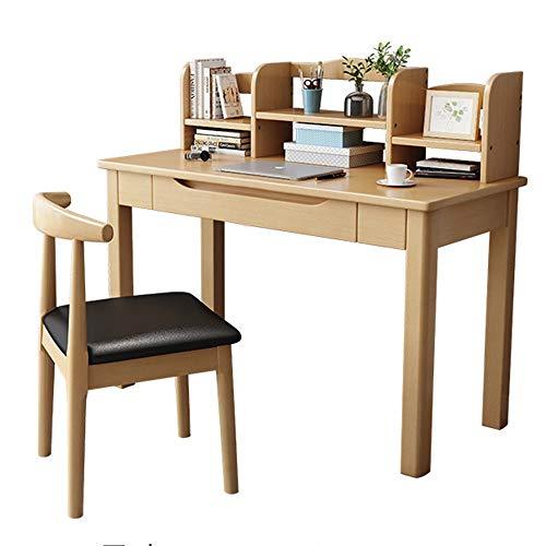 AMRT Computer Desk Houten Computer Bureau Met Boekenplank Werkt Als Office Bureau Studie Tafelwerkstation Voor Thuis Kantoor Plank lade opslag