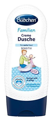 Bübchen Familien Creme Dusche sensitiv, Duschcreme mit 1/3 Pflegelotion, Waschlotion für zarte Haut, Menge: 1 x 230 ml