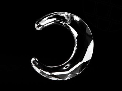 gogoritas Pendentif en Acrylique en Star Bright   Lune, 29.0 x 29.0mm, Crystal, 30 Pièces