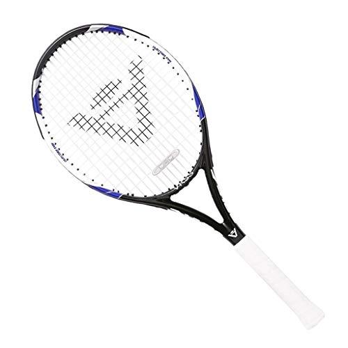 Raquetas De Tenis De Carbono Completo para Hombres Y Mujeres Raqueta De Entrenamiento De Tenis Mango De Cuero PU (Color : Black, Size : 69cm/27 Inches)