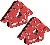 Poppstar Escuadra magnetica para soldar pequeña (Juego de 2 pzas), Fuerza de...
