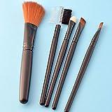Fanxp Fashion 5 Unids/set Juego de pinceles de maquillaje Black Of Brush, Pincel para sombra de ojos, Pincel para rubor y colorete, Herramientas de maquillaje femenino
