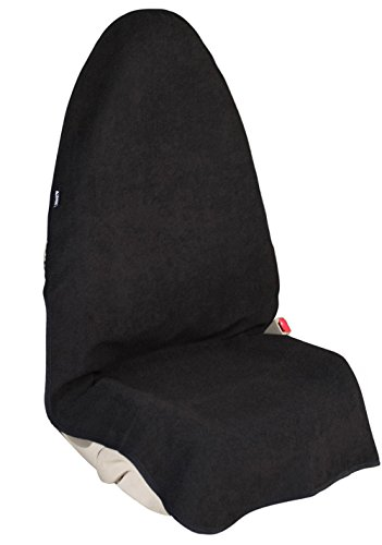 Leader Accessories Waterproof Sweat Towel Front Bucket Seat Cover for Cars Truck SUV Black - Machine...