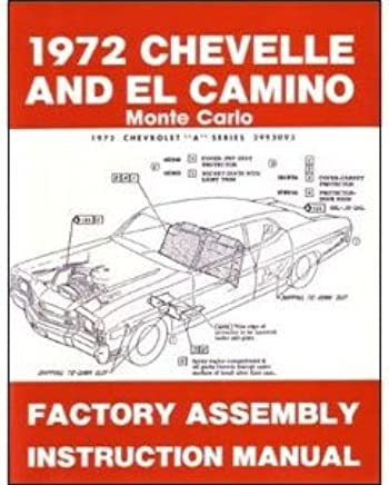 1972 Chevelle El Camino Monte Carlo Assembly Manual With