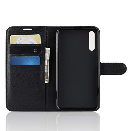 TenYll Hülle für Huawei Honor Magic 2,Wallet Tasche PU Schutzhülle [Premium Leder] [Ultra Slim] [Card Slot] [Ständer] Flip Wallet Hülle Etui für Huawei Honor Magic 2 -Schwarz