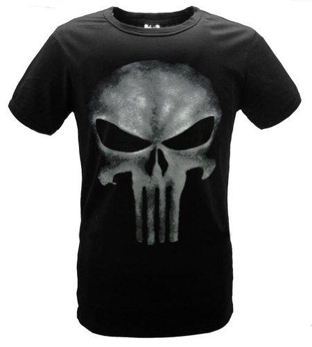 Fuman The Punisher Skull Logo Herren Kult T-Shirt Schwarz Sleeveles XL