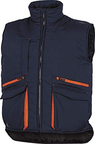 Delta Plus SIER2MOXX - Chaleco con varios bolsillos (poliéster y algodón, talla XXL, 20 unidades), color azul marino y naranja