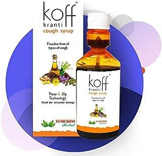 Koff Kranti - Ayurvedic Cough Syrup with Tulsi, Ardusi, Saunth, Yashthimadhu, Kaantakari and More for Dry Cough Syrup and ...