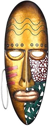 ZHIFENGLIU Arte Africano Colgante de Pared mscara de Hierro decoracin de la Pared Cultura Tribal Africana decoracin del hogar o del jardn Colorido-A
