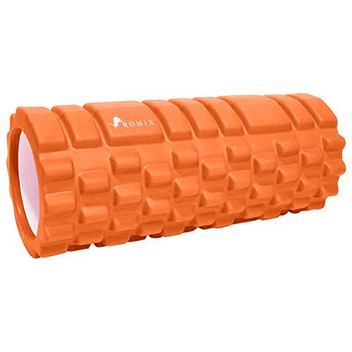 ROMIX Faszienrolle, Triggerpunkt Selbstmassage Fitness Schaumstoffrolle, Professionelle Massagerolle Foam Roller für Faszientraining Yoga Pilates Damen Herren Rücken und Wirbelsäule Muskeln Sport