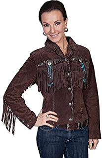 Scully Women's Suede Leather Fringe Jacket Plus