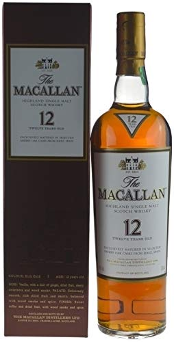Rarität: The Macallan Whisky 12 Jahre Sherry Oak 0,7l inkl. Geschenkkarton