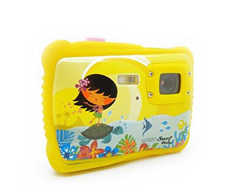 Aquapix W520 Surf Babe Unterwasser Kinderkamera (5 Megapixel, 4-Fach dig. Zoom, 4,5 cm (1,7 Zoll) TFT-Display) gelb