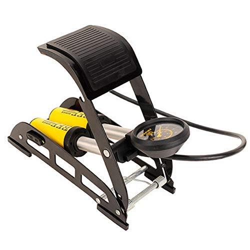 TPDL Tragbare Fußpumpe Doppelzylinder mit Manometer 10 bar und mit universal-pumpekopf für Auto/Fahrrad/Motorrad Auto/Ball …