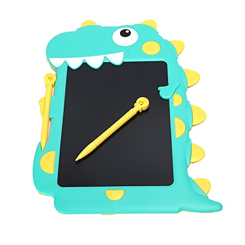 Annadue Pizarra LCD de Dibujo con Grafiti con Bloqueo Anti-borrado, Pizarra de Escritura con rotulador, Pantalla LCD Flexible para Proteger la Salud Ocular de los niños(Verde y Amarillo)