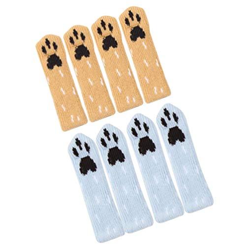 BESTonZON 8Pcs Möbel Pad Stuhl Bein Socken Elastische Bodenschutz Möbel Socke rutschfeste Stuhl Bein Füße Sockenbezug Gestrickte Möbel Pads