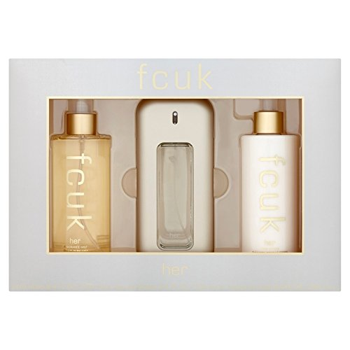 French Connection - Fcuk - Edt Spray 3.4 Oz & Body Lotion 8.4 Oz & Fragrance Mist 8.4 Oz