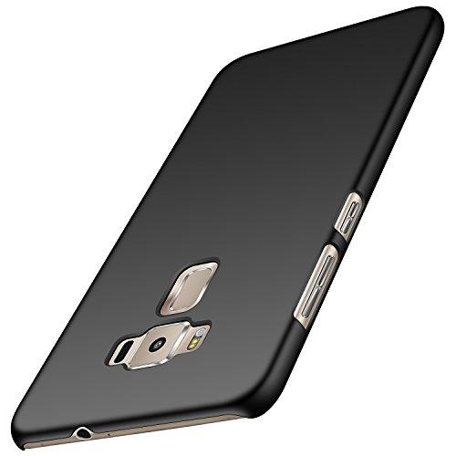 anccer Asus Zenfone 3 Hülle, [Serie Matte] Elastische Schockabsorption und Ultra Thin Design (Glattes Schwarzes)