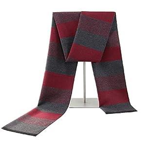 Outgeek Red Knitted Scarf Cotton Casual Fashion Winter Christmas Wear Striped Neckerchief Warm Premium Mufflers Stole… 5 41YbO6Gf ML. SL500 . SS300