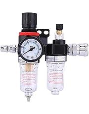 Persluchtregelaar, 1/4 inch, olie-waterafscheider, drukregelaar, perslucht, waterafscheider, AFC2000 AL2000, voor compressor, olieafscheider