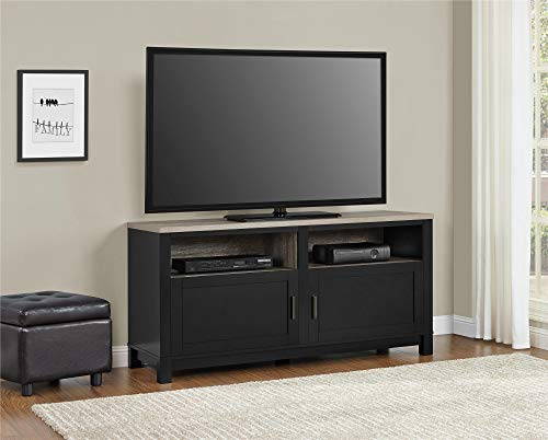 """Ameriwood Home Carver TV Stand for TVs up to 60"""" Wide, Black"""