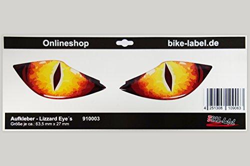 Sticker 3D - 910003 Lizzard Eye Ltd/Sticker - echsen Eye/Car-& Bike Styling/Auto & Motorfiets Styling - uitstekende bescherming tegen weersinvloeden, geen goedkope foliestickers
