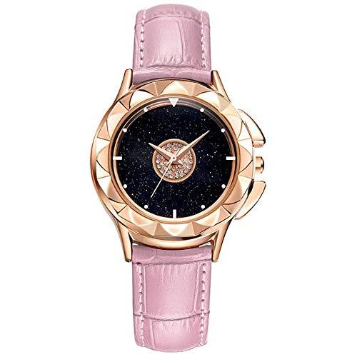 YYGB Horloges Vrouwen Mode Horloges voor Vrouwen Zakelijke Jurk Casual Waterdichte Quartz Horloge voor Starlight Wijzerplaat, Roze