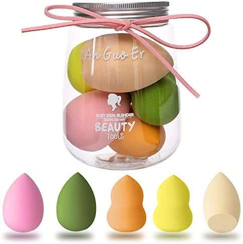 Antzz 5 Pcs Makeup Sponge Set Blender Cosmetics Beauty Foundation Blending Sponge Flawless for product image