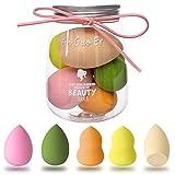 Antzz 5 Pcs Makeup Sponge Set Blender Cosmetics Beauty Foundation Blending Sponge, Flawless for Liquid, Cream,...