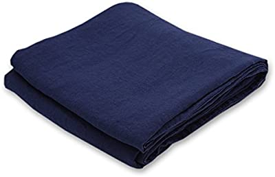"""LinenMe 0561005 Navy Blue Stone Washed Bed Linen Duvet 68x86 Inch, 68"""" x 86"""""""