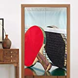 kidhome Doorway Curtain, Table Tennis Rackets Door Panels Patio Door Window Drapes 34' 56' for Window/Living...