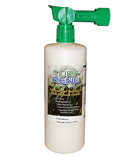 TURF RENU Tr10132 Bio-Enzymatic Cleaning Solution for Synthetic/Artificial Turf and Pet Odor Control with Sprayer, 32-Ounce