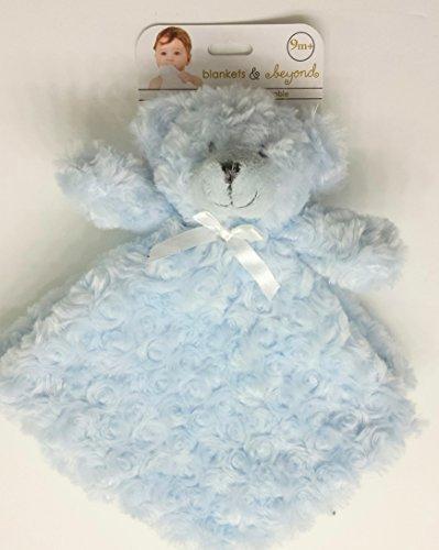 Blankets and Beyond Blue Rosette Bear Nunu Baby Security Blanket by Blankets and Beyond