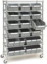 Seville Classics Commercial 7-Tier NSF 16 Bin Rack Shelving, 36