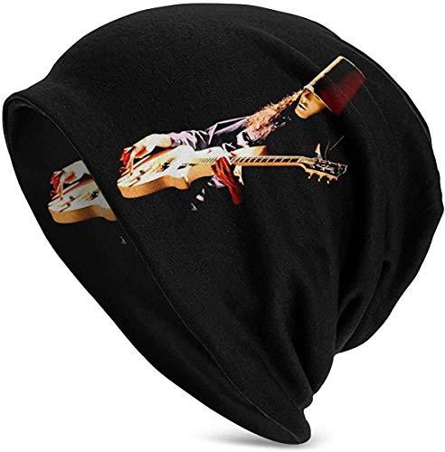 BGDFN Mode Buckethead Adult Herren Strickmütze Muster Baggy Cap Hedging Kopf Hut Top Level Beanie Cap