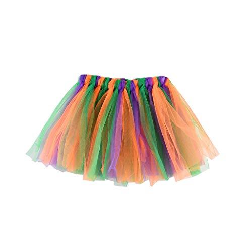 Falda del Tutu para Niña,SHOBDW Niños Bebé Regalos de Cumpleaños Elasticidad Fluffy Layered Rainbow Mini Pettiskirt Ballet Falda Fiesta de Regalo de Cumpleaños de Lujo Traje de Baile(E)