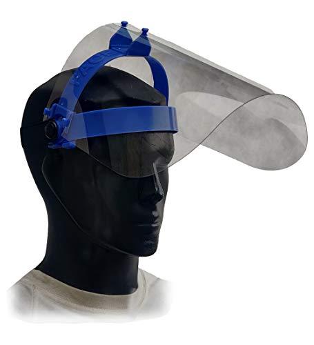 Flip Up Face Shield, Swivel Visor Function, Replaceable Visor, 1 additional Visor, GoCoGo ATL (Pack of 1, Blue)