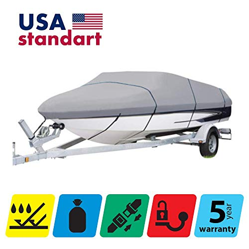 Check Out This TTSC Boat Cover for Hurricane SUNDECK Sport 187 2011, Grey Color