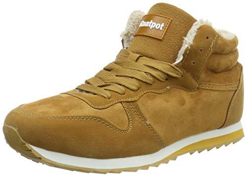 Gaatpot Zapatos Invierno Botas Forradas de Nieve Zapatillas Sneaker Botines Planas para Hombres Mujer Amarillo EU 36 = CN 37