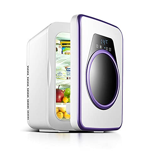 NOVHOME FrigoríFico PequeñO, DiseñO de Pantalla Digital de 22 Litros Enfriador Calentador Refrigerador PequeñO PortáTil Ac/Dc Mini Refrigerador para AutomóVil Hogar