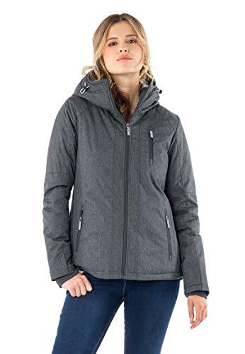 Sublevel - Giacca invernale da donna, sportiva, con cappuccio blu scuro M
