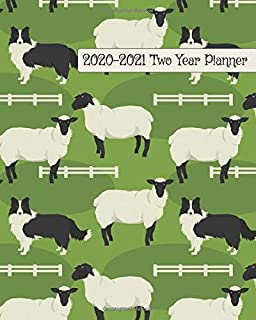 2020-2021 Two Year Planner: Border Collie Hard at Work Cover on a Weekly Monthly Planner Organizer. Perfect 2 Year Motivational Planner, Agenda, ... sheep sorted! (Dog Lovers 2 Year Planner)