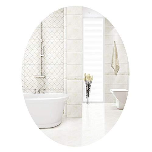 LXDDP Ovale Badspiegel zur Wandmontage Europäischer Wandspiegel Halblanger Spiegel Flur Ganzkörper-Bodenspiegel zum Aufhängen, für Flur Wohnzimmer Schlafzimmer