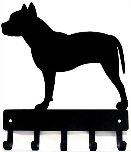 Pit Bull Terrier Key Rack & Dog Leash Hanger - Small 6 inch