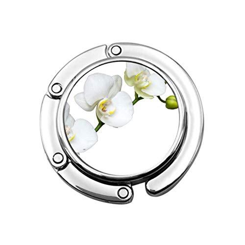 Colgador para bolsos de mesa con diseo de flores, color blanco, diseo nico